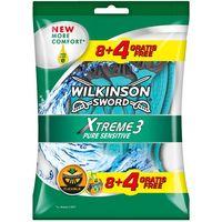 Máquinilla desechable WILKINSON Xtreme 3, pack 8+4 uds. ( 2ª unidad -70% )