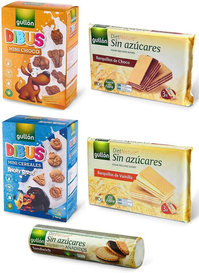Selección de galletas Gullón por 1€ o menos en Amazon