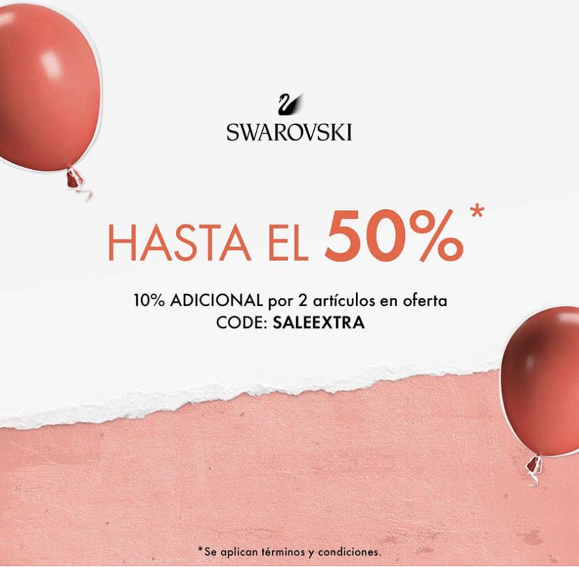 Hasta 50% de descuento en Swarovski