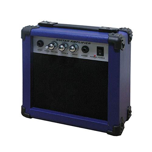 Amplificador de guitarra azul.