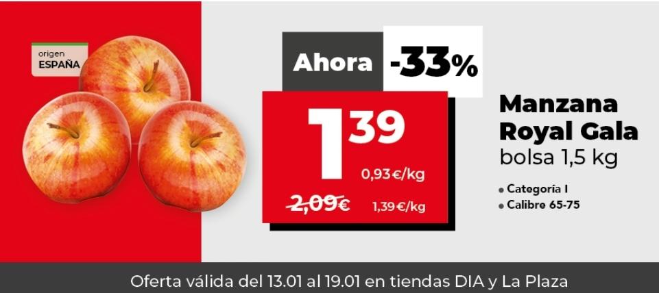 Manzanas ROYAL GALA supermercado DIA 1.5 KG