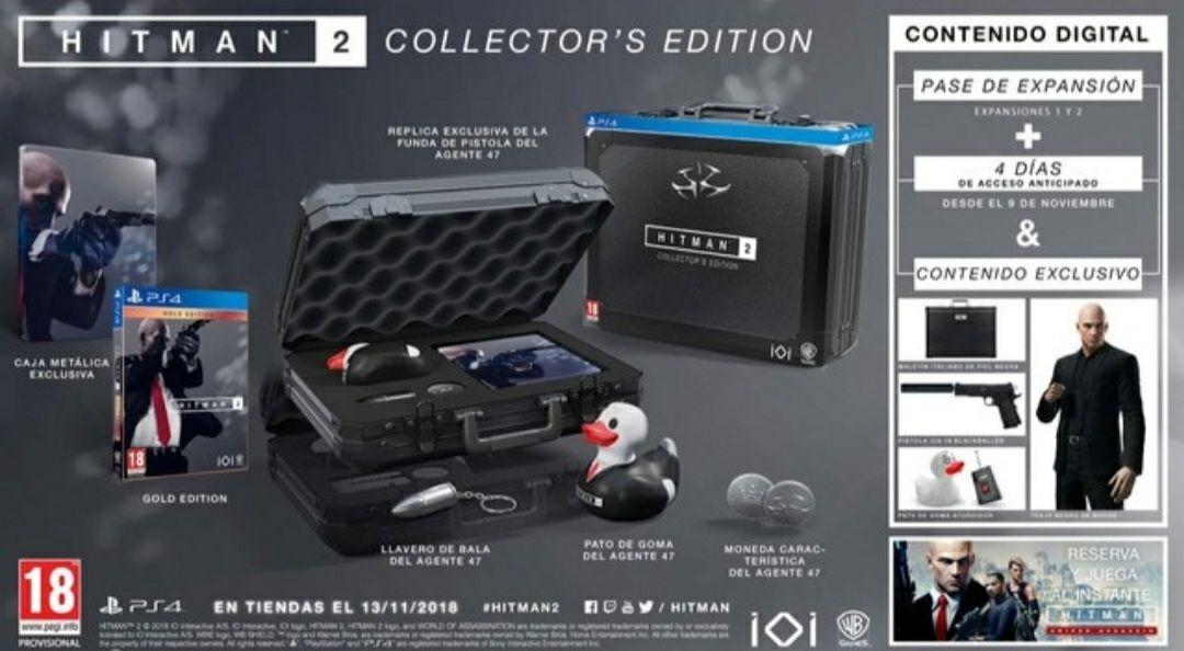Hitman 2 edición coleccionista PS4