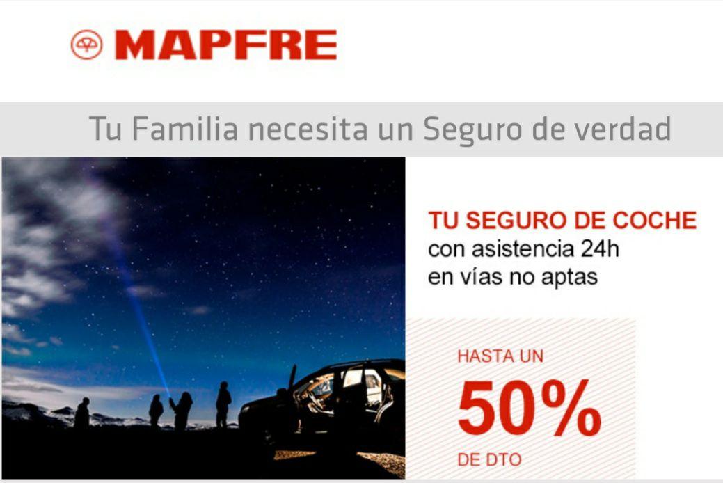 """""""MAPFRE"""" seguro de coche con plan 12 meses. Hasta un 50% de descuento"""