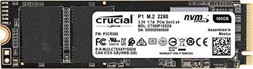 SSD Crucial P1 NVMe PCIe de 500 GB