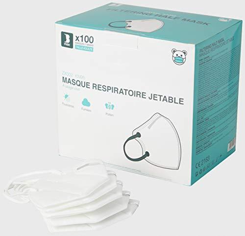 Staroon Mascarilla Protectora Respiratoria FFP2 / KN95, 94% de Filtración (Paquete de 100 Máscaras)