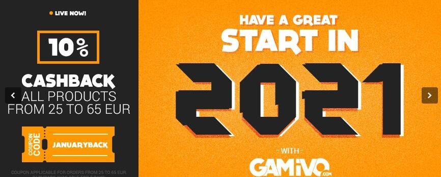 10% de CASHBACK para GAMIVO