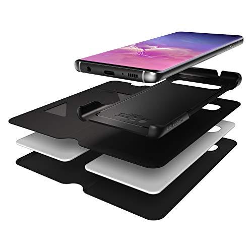 Funda con Tapa Anti Caídas, Fina y Elegante para Samsung Galaxy S10, Negro