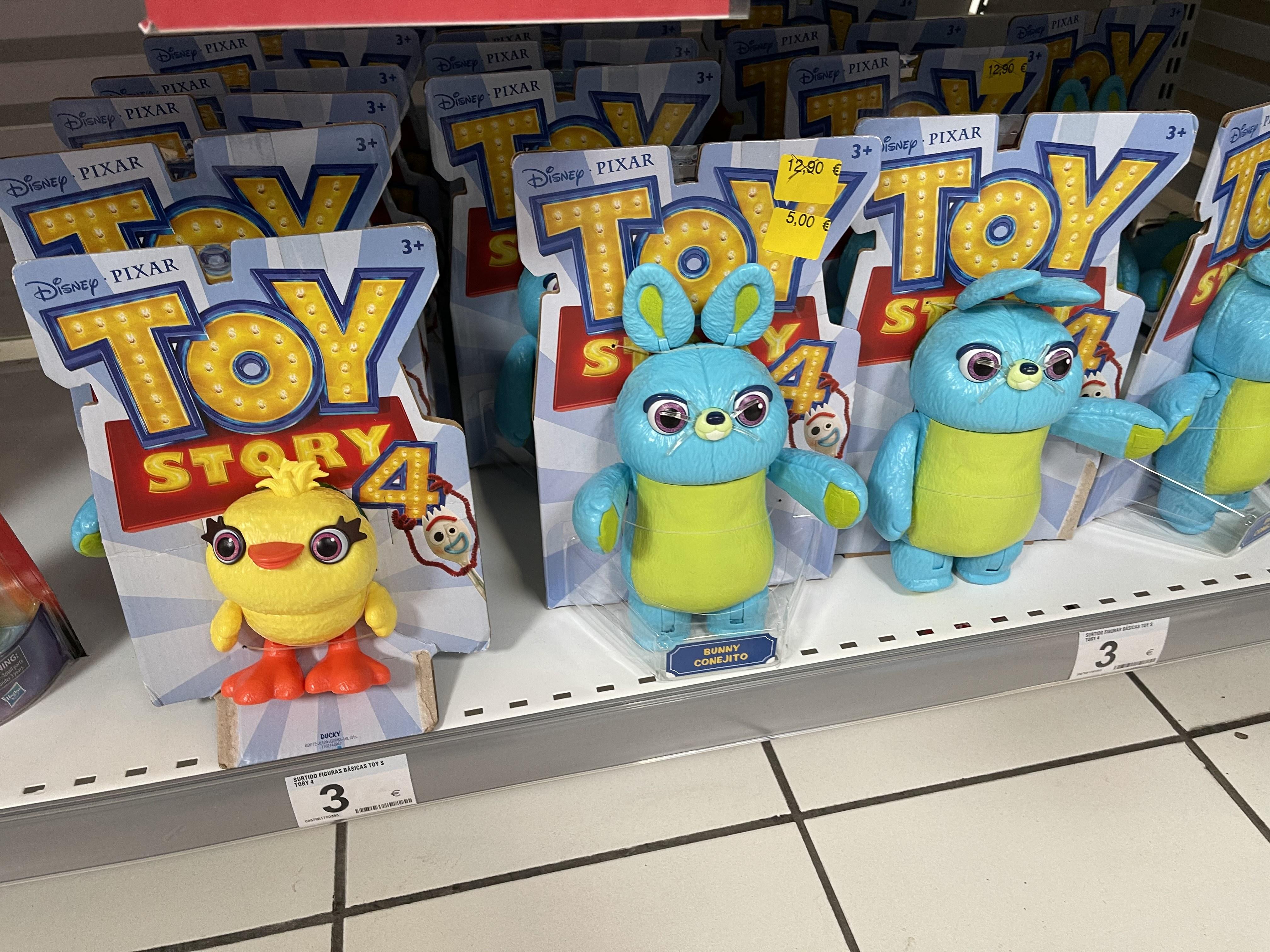 Muñecos Toy Story 4 (Carrefour Atalayas, Murcia)