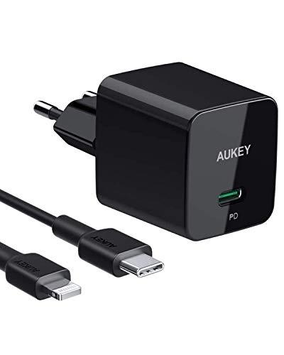 Cargador Aukey + Cable MFi para iPhone