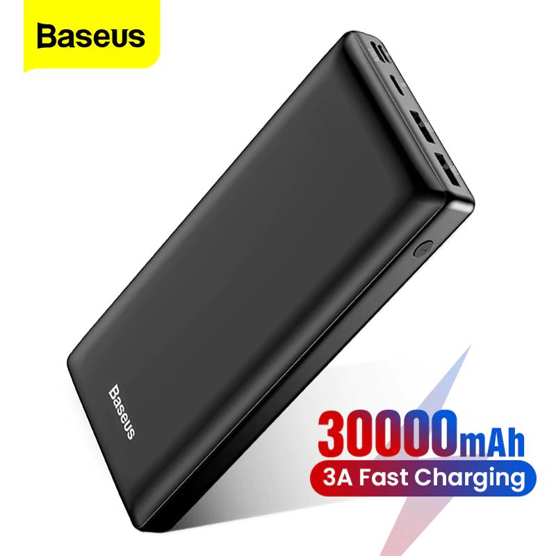 Baseus 30.000mah Multicarga 2xUSB 2.4A/1A - TypeC 3A