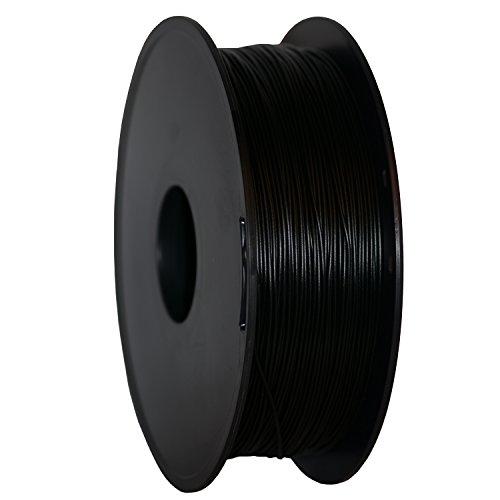 Filamento PLA color negro 1kg para impresora 3D