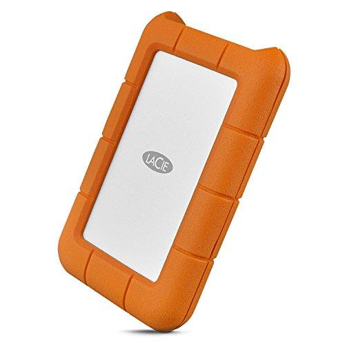 LaCie Rugged, USB-C, 1 TB, Disco duro externo portátil, USB 3.0, resistente a caídas y golpes