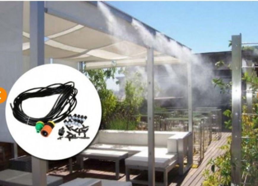 Kit Difusor de Agua para Terraza/Jardín 10 difusores-10m