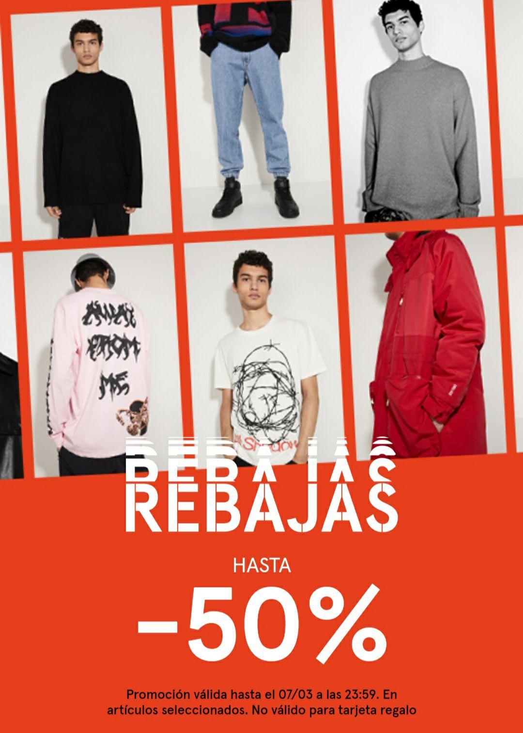 """"""" BERSHKA"""" hasta un 50% de descuento. Envíos gratis a tienda y desde 30€"""