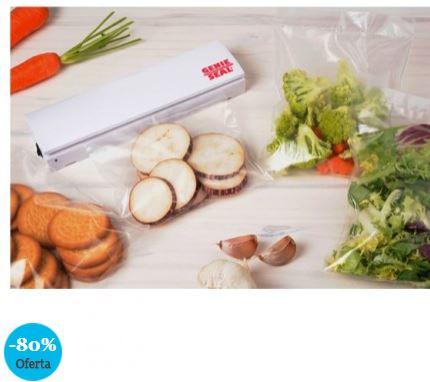 OUTLET Sellador de bolsas Genie Seal, sellado hermético y seguro de alimentos frescos y congelados para mejor conservación, rápido y fácil