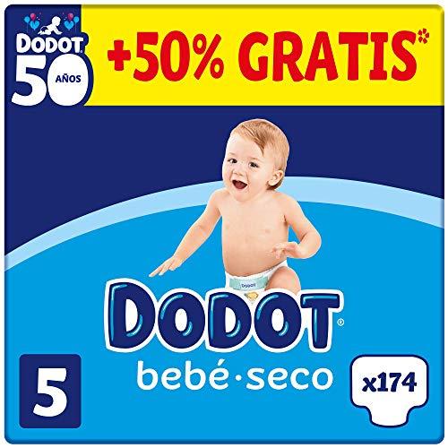 DODOT Bebé-Seco - Pañales Talla 5, 174 Pañales, 11-16kg (Sale a 17centimos el pañal)