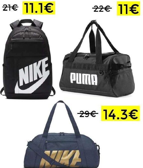 Preciazos en selección mochilas y bolsas deportivas