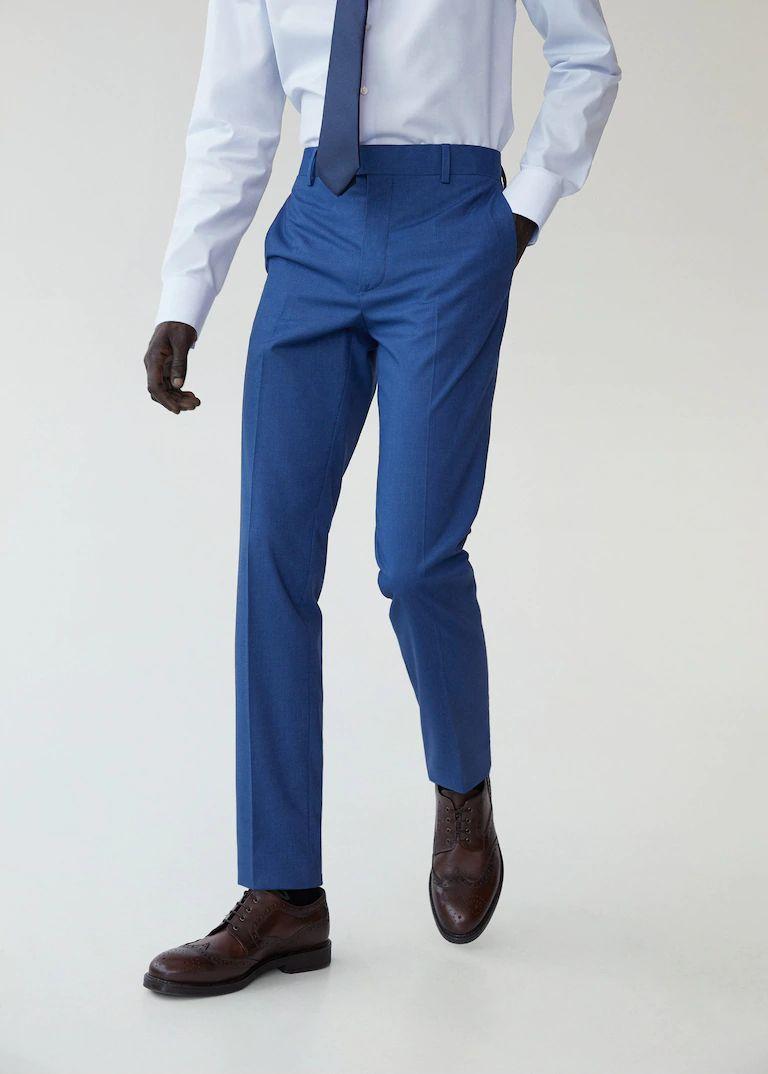 Pantalón traje slim fit