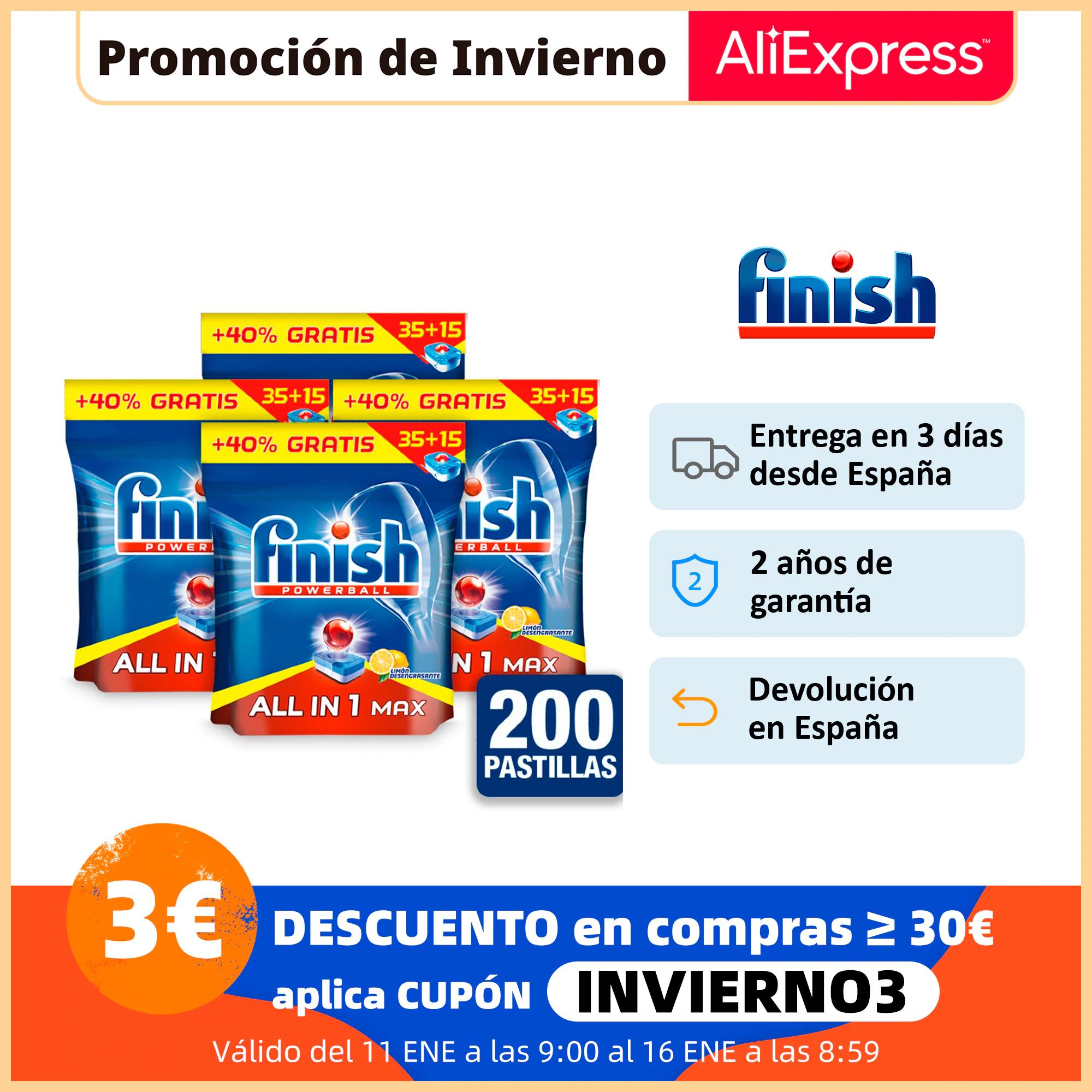 Finish Powerball All in 1 Max - 200 pastillas (0,135€/unidad)