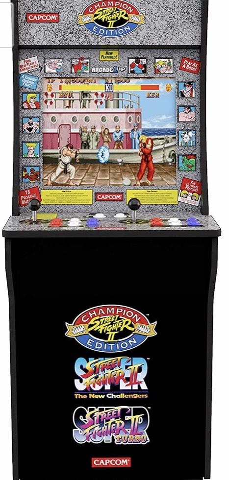 Maquina original Retro con las 3 versiones del Street Fighter