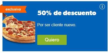 50% DESCUENTO en DOMINO's PIZZA envio gratis