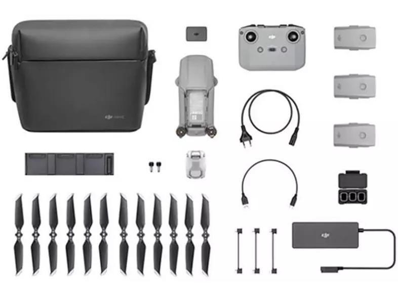 Drone - DJI Mavic Air 2 Fly Más Combo, 34 min, 48 MP, Vídeo 4K/60 fps, Distancia máx. 10 km, 68 km/h, Gris