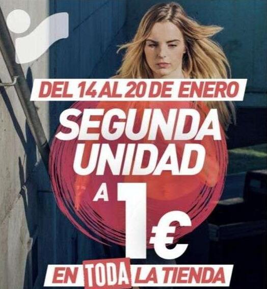Intersport Oviedo - Segunda unidad por un 1€ en toda la tienda