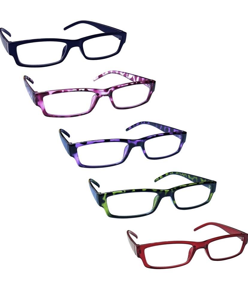 Pack de 5 gafas de lectura potencia óptica +1,00 dioptría