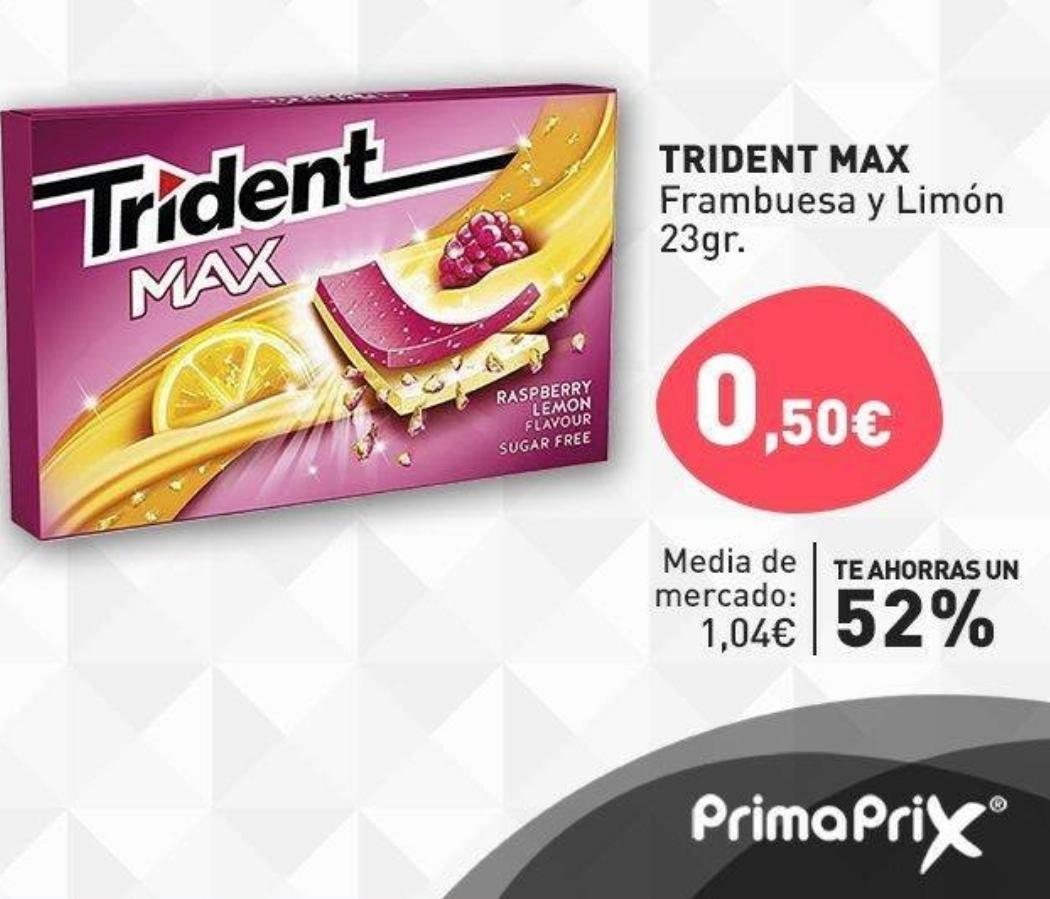 Trident max frambuesa y limón PRIMAPRIX