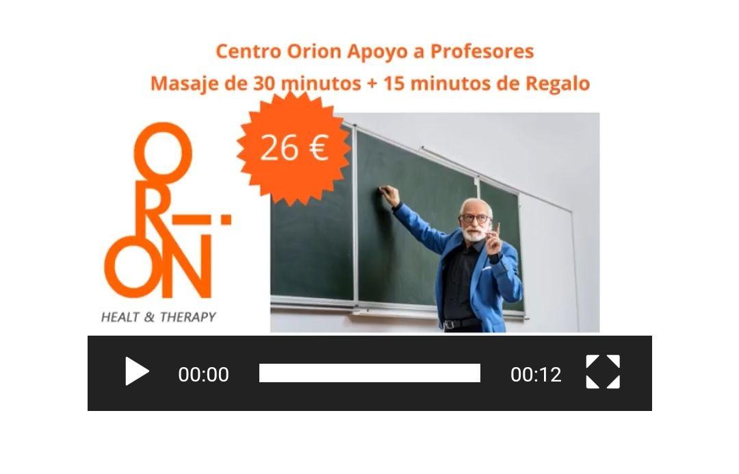 Masaje 30 minutos + 15 gratis (solo profesores)