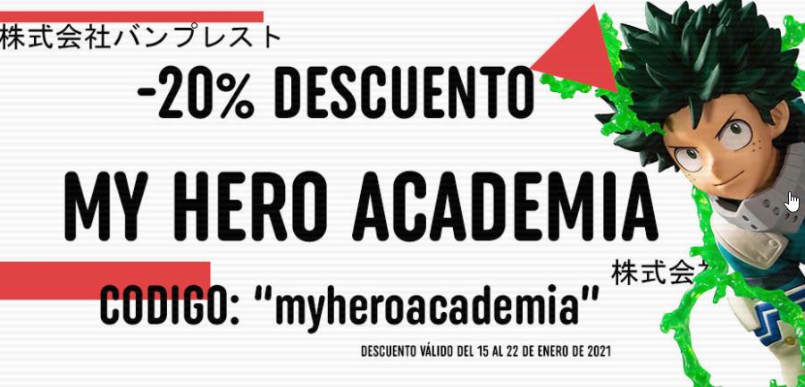 Descuento sección My hero Academia