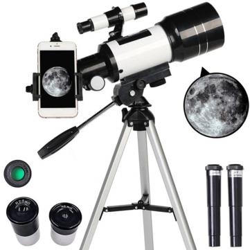 Telescopio astronómico 150X Apertura de 70mm Trípode de longitud focal de 300mm - Desde Europa