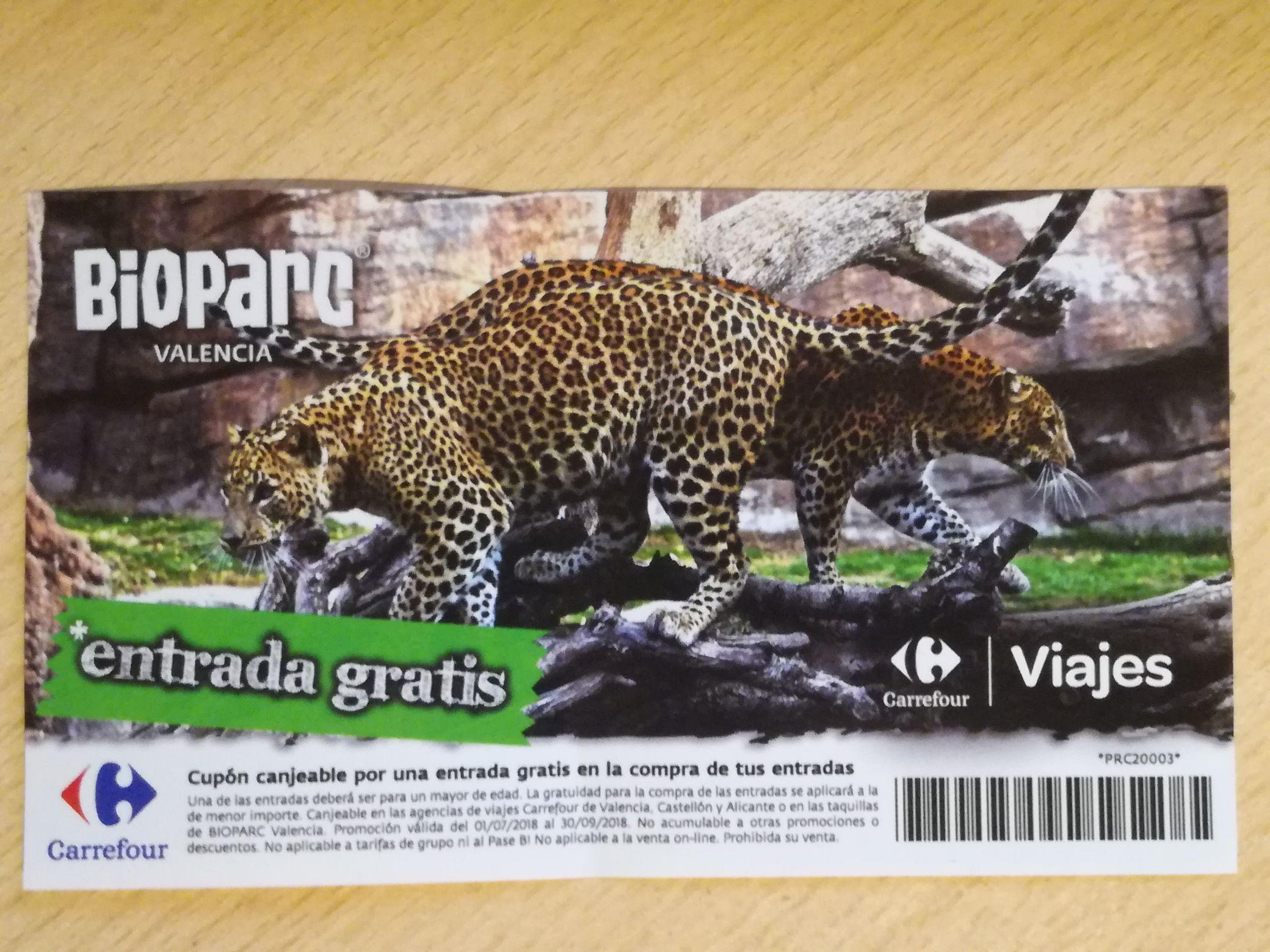 Entrada gratis 2x1 Bioparc (Valencia)