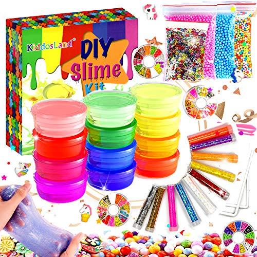 Kit para hacer Slime de 12 Colores Cristal