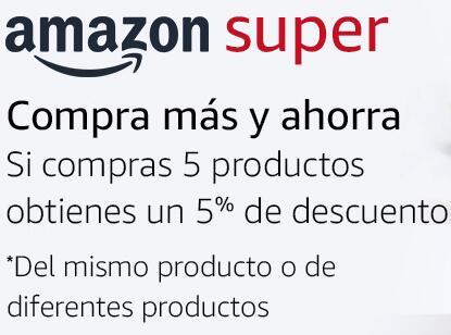 Si compras 5 productos te hacen un 5%. Algunos rebajados y descuento adicional al final.