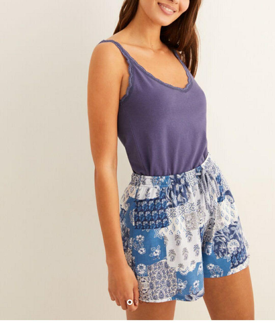 Pijama corto estampado 'patch'