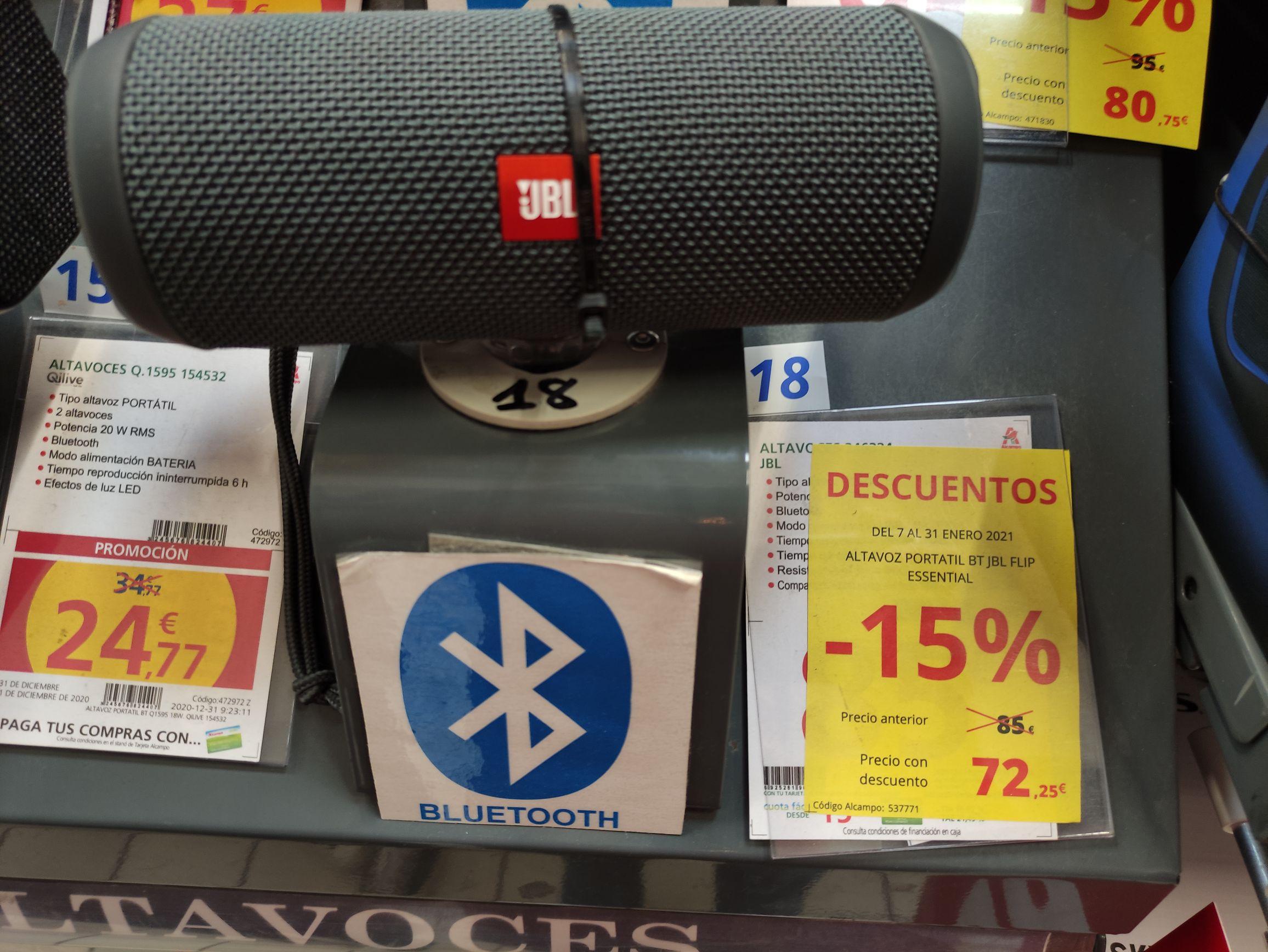 JBL Flip Essential con un 15% de descuento (Alcampo Almería)