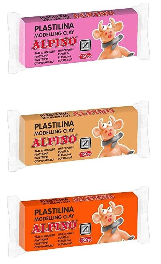 Alpino Pastillas de plastilina de 150gr (0,60€/u)