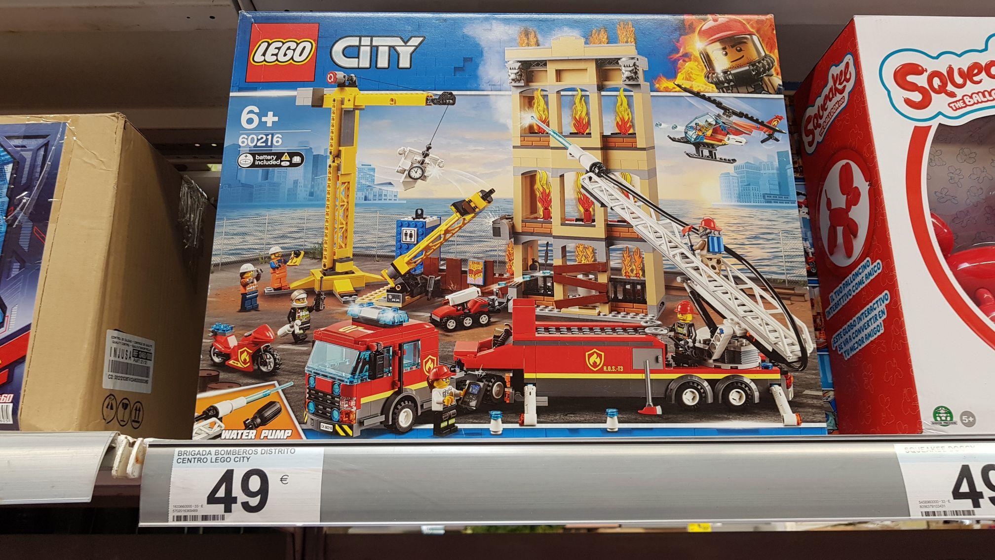 LEGO CITY 60216 Brigada de Bomberos del Distrito Centro (varios Carrefour de Madrid)