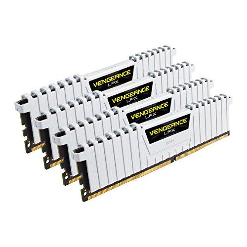 Corsair Vengeance LPX - Módulo de memoria XMP 2.0 de alto rendimiento de 32 GB (4 x 8 GB, DDR4, 3200 MHz, C16) color blanco