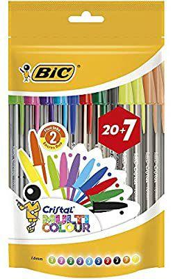 27 bolis BIC multicolor
