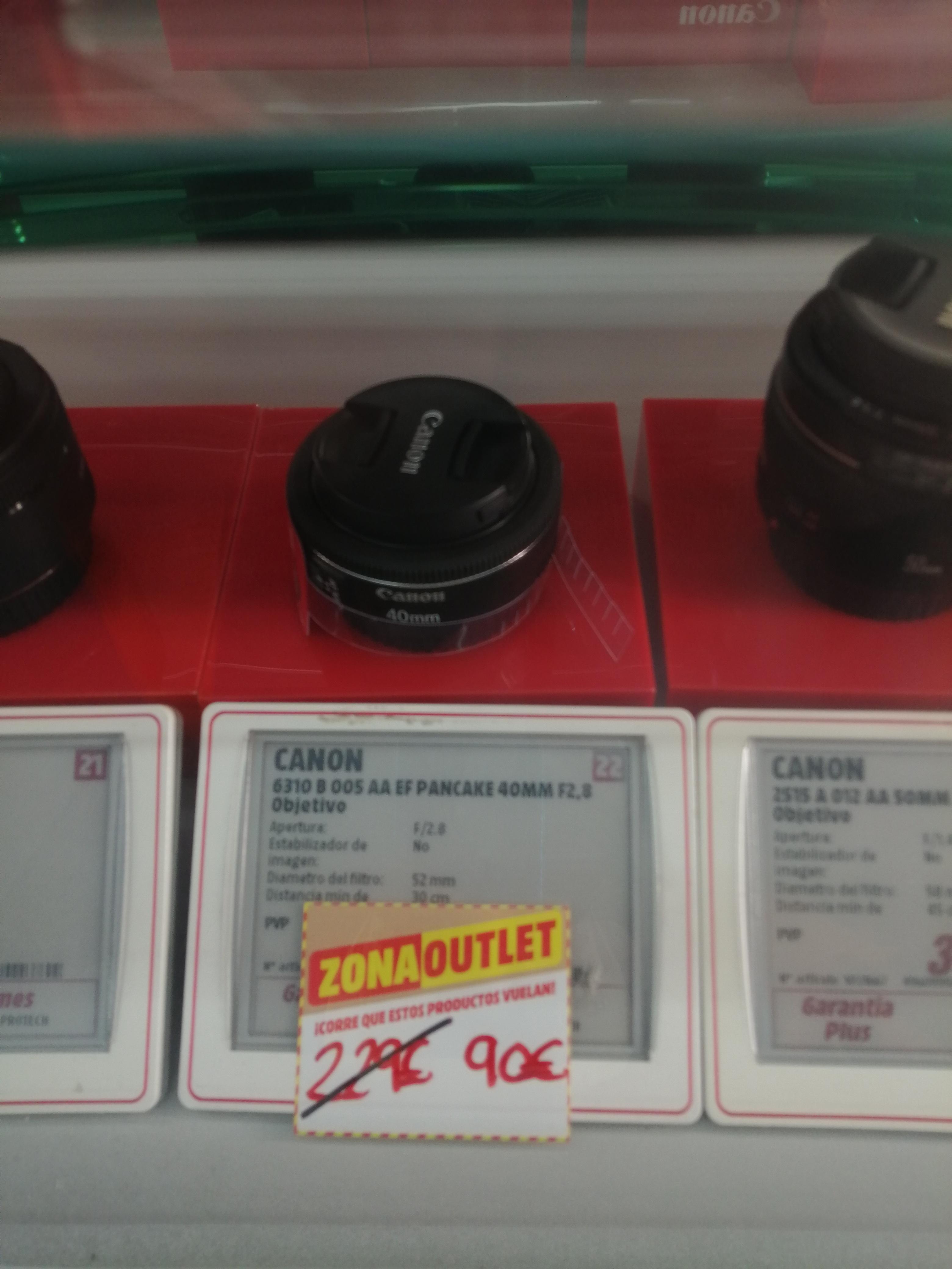 Canon 40 mm, f/2.8 STM - Objetivo (Distancia Focal Fija 40 mm, Apertura f/2.8), Negro