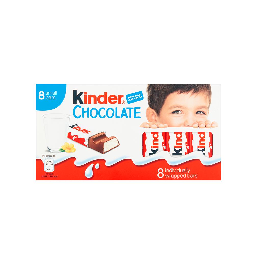 Dos paquetes de chocolate Kinder