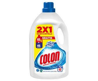 Detergente en gel para lavadoras (ropas blancas y de color) COLON 90 lav. 4,68 l.