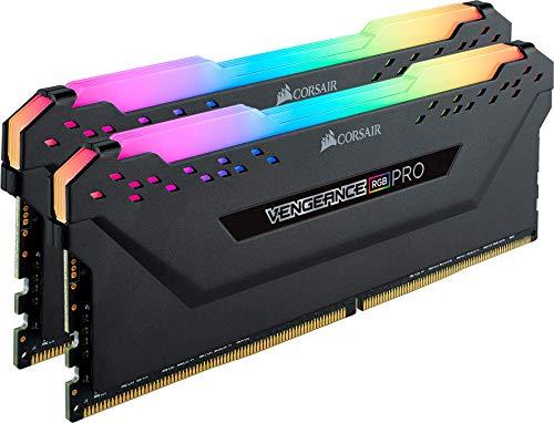 Corsair Vengeance RGB PRO 16 GB (2 x 8 GB) DDR4 3200 MHz C16 XMP 2.0 RGB LED Iluminación Módulo de Memoria de Alto Rendimiento, Negro