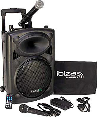 Sistema de sonido portatil Ibiza Sound PORT10VHF-BT 500W