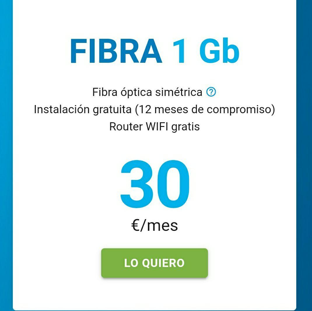 DIGI - FIBRA 1GB - 30€