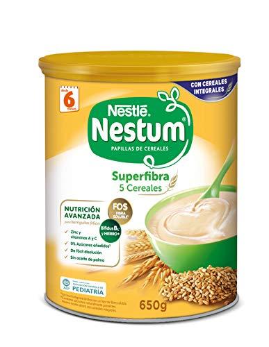 Nestle papillas nestum - superfibra 5 cereales - 3 x 650g