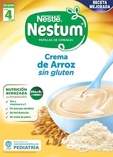 Nestle papillas nestum - crema de arroz sin gluten - 3 x 250g