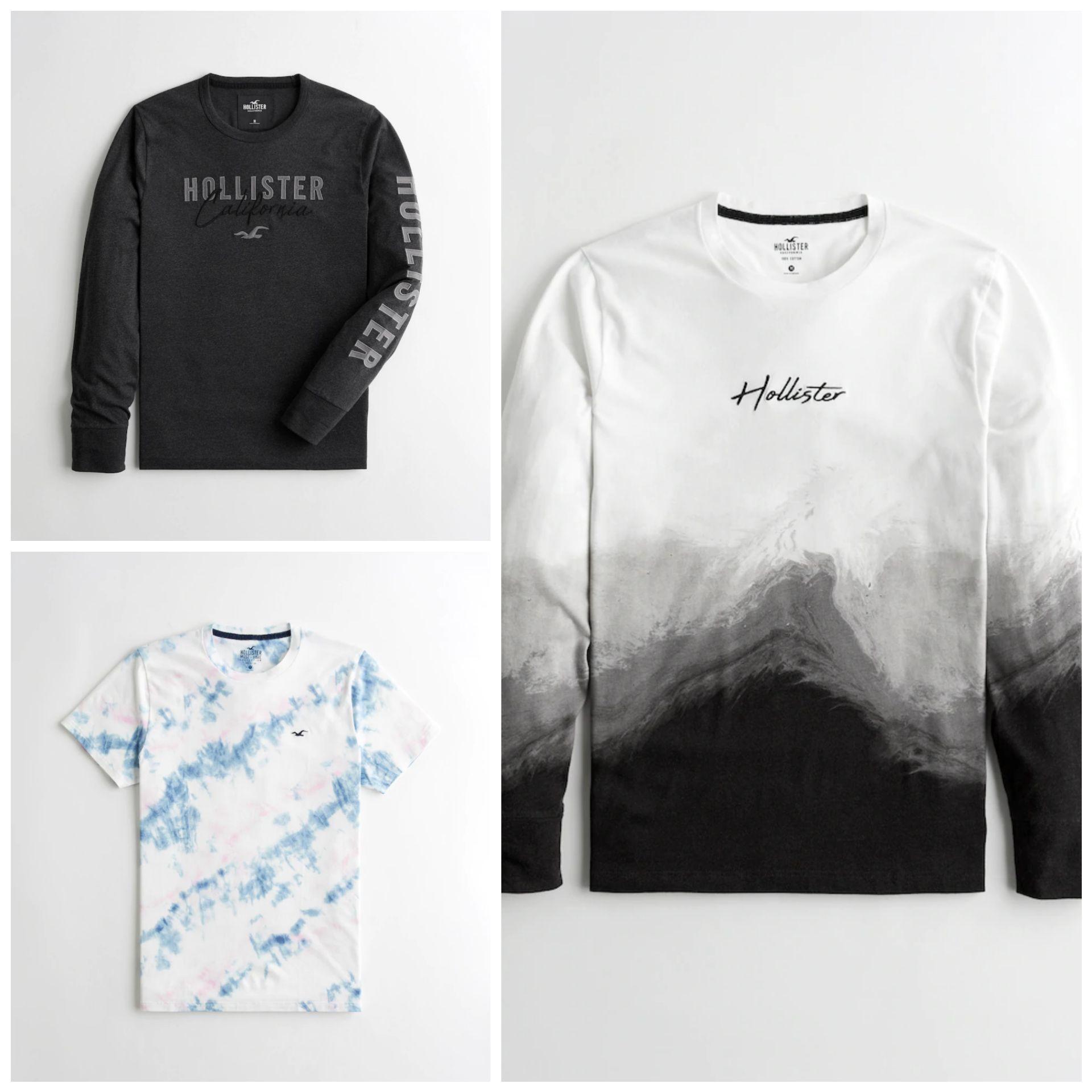 Camisetas Hollister para Hombre por menos de 10€ (Varios modelos en descripción)